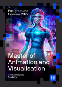 Cover of the UTS Animal Logic Academy Master of Animation and Visualisation course guide