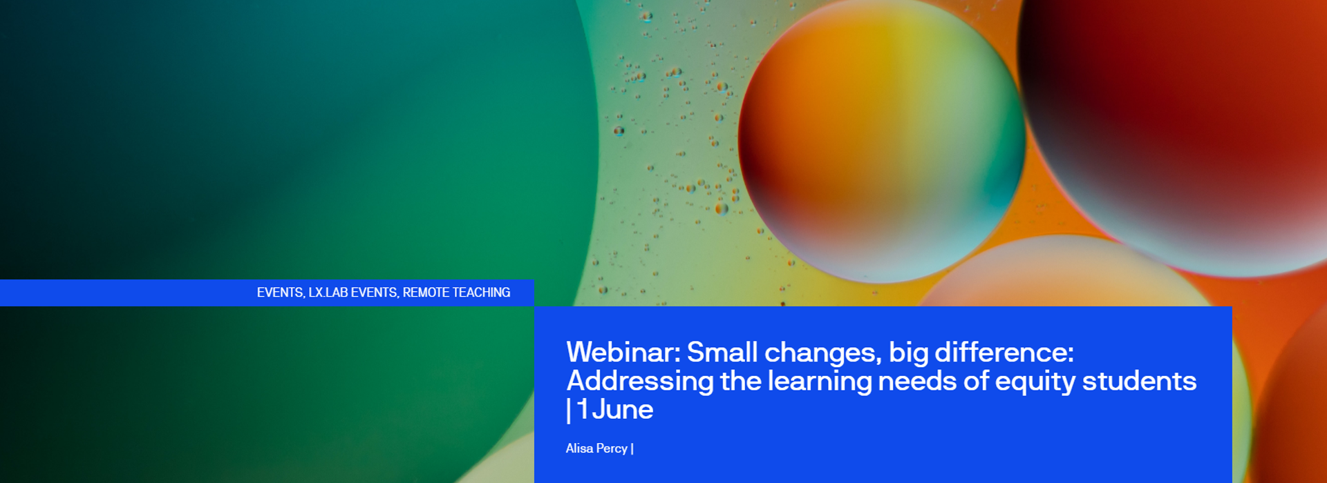 Header image of abstract bubbles