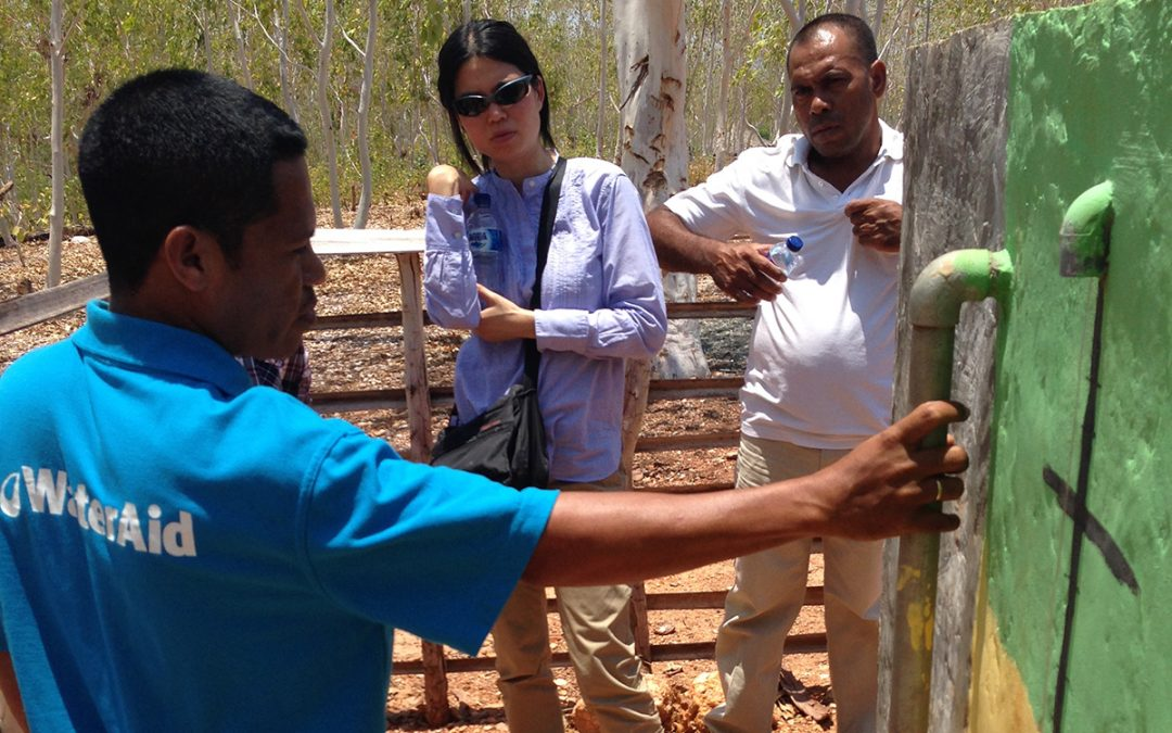 Associate Professor Joanne Chong with Water Aid Timor-Leste colleagues