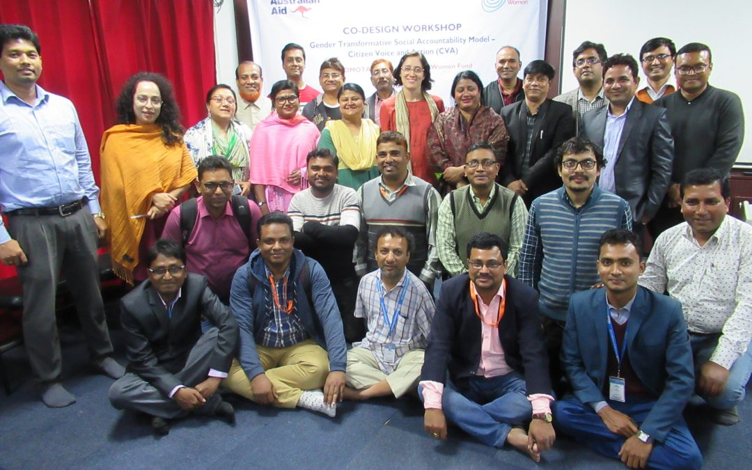 Co-design workshop participants in Dhaka, Bangladesh