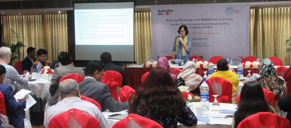 Tamara Megaw from ISF-UTS sought input from sector stakeholders on the relevance of the gender-transformative social accountability model to the Bangladeshi context