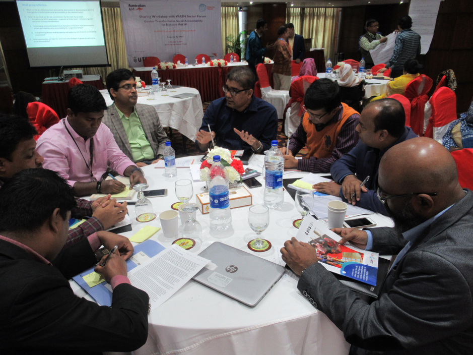 Group discussions explored how learning about gender-transformative social accountability connected and disconnected from current government and NGO practices in Bangladesh
