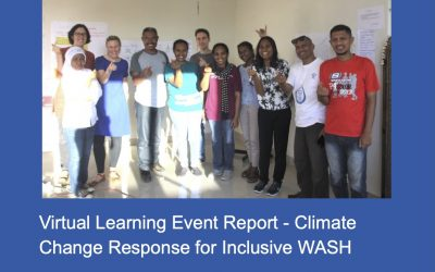 Virtual Learning Event for the Climate Change Response for Inclusive WASH research