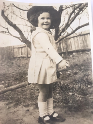 Betty as a child
