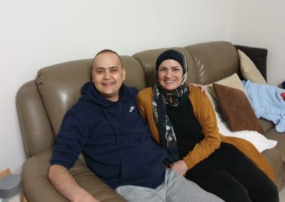 Yasser and his sister Angela