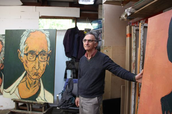 Tony Costa in his studio