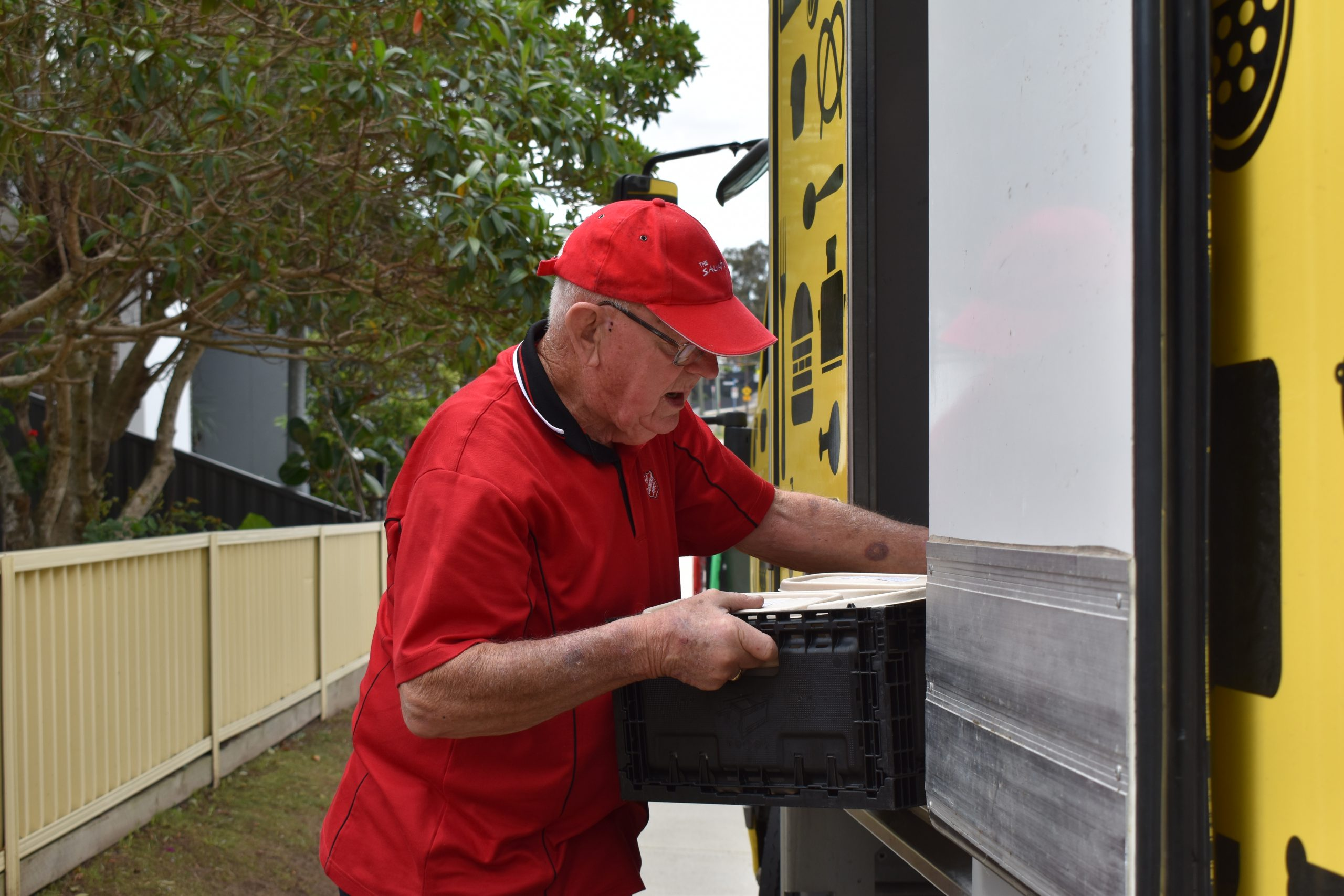 Hilton on the OzHarvest delivery