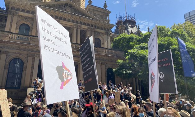 Thousands rally in Sydney to protest sexual violence against women