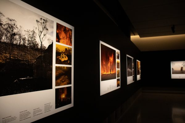 The Photos1440 curation of SMH's 2019-2020 bushfire coverage, for the public to view in the NSW State Library exhibit. | Rafqa Touma