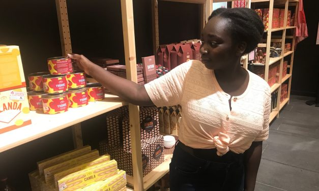 Clever art pop-up making shoppers think about slavery