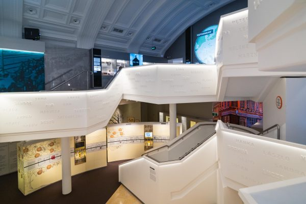 A photo of the Sydney Jewish Museum from the second level