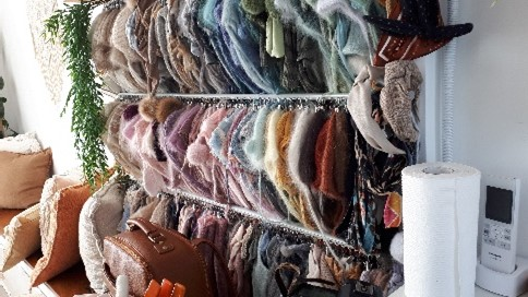 colourful rows of baby clothes