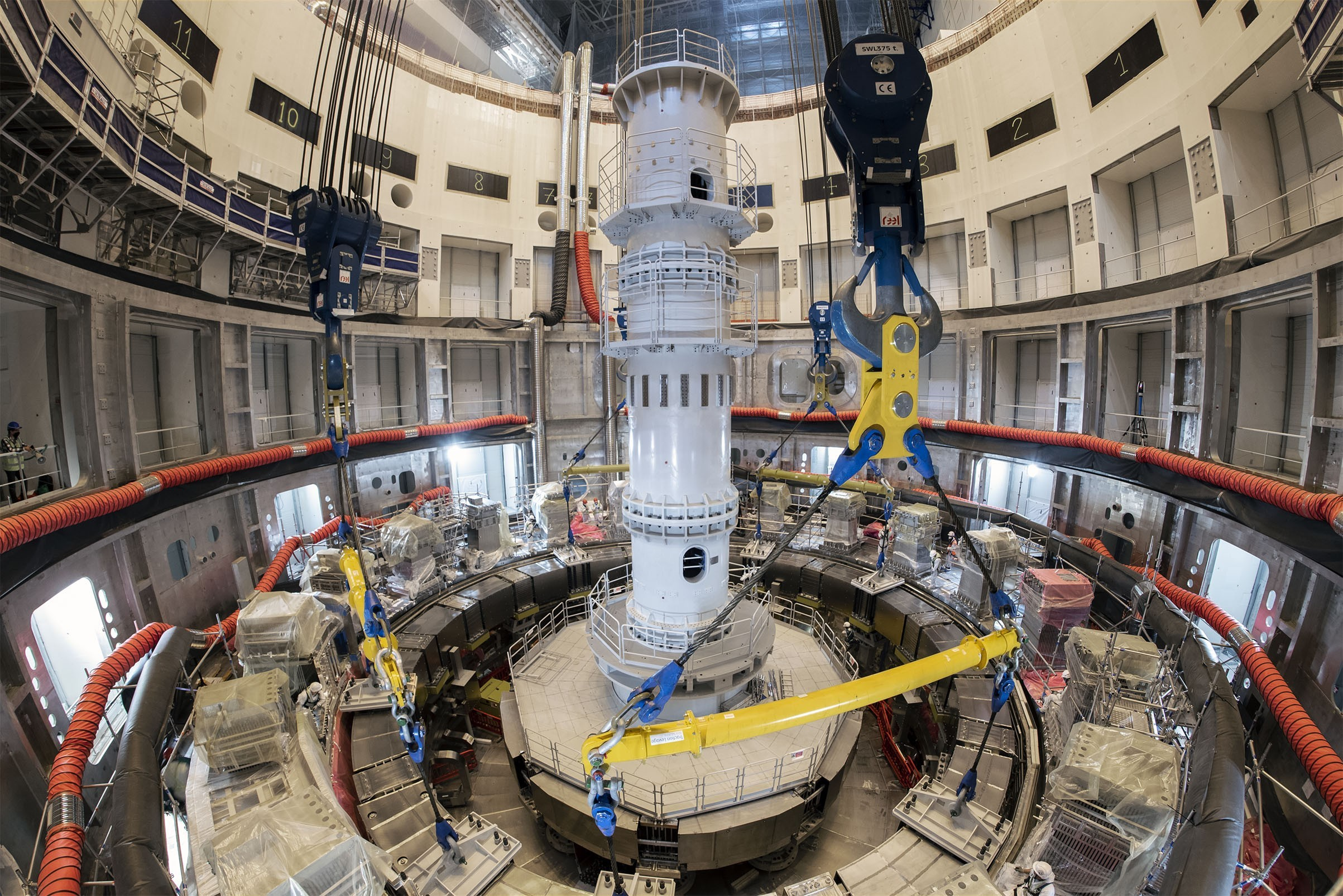 Image credit: Photo by EJF Riche - ITER construction site and ring coil PF5.